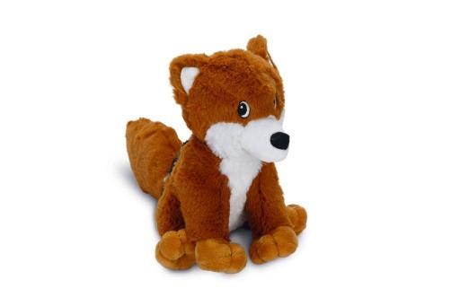 Korting Beeztees foxi hondenspeelgoed bruin wit 20 cm