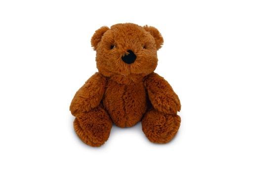 Beeztees beer baloe - hondenspeelgoed - bruin - 18 cm