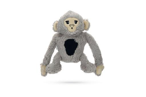 Korting Beeztees aap arty hondenspeelgoed grijs 18 cm