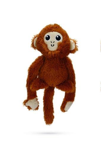 Korting Beeztees aap edo hondenspeelgoed bruin 18 cm