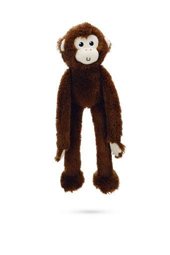 Korting Beeztees aap kito hondenspeelgoed donker bruin 41 cm