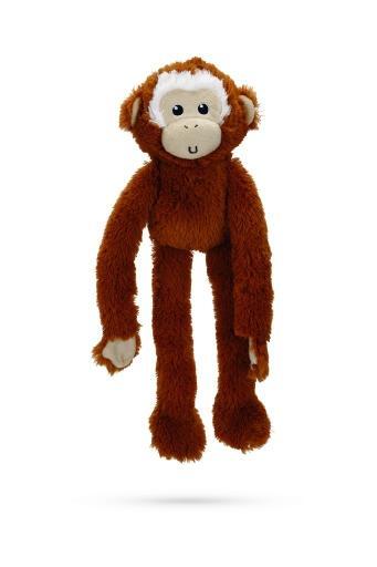 Korting Beeztees aap koda hondenspeelgoed pluche bruin 41 cm