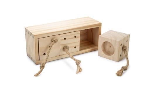 Beeztees ibor - knaagdierspeelgoed - training - hout - 20x7 cm