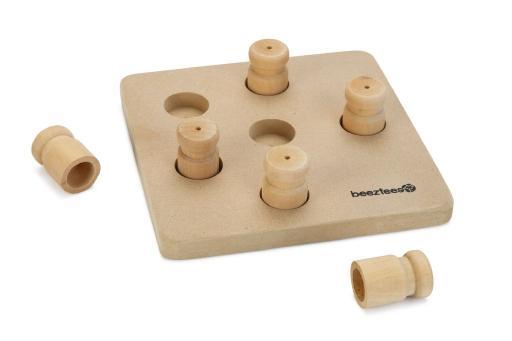 Beeztees ozo - hondenspeelgoed - training - hout - 18x18 cm