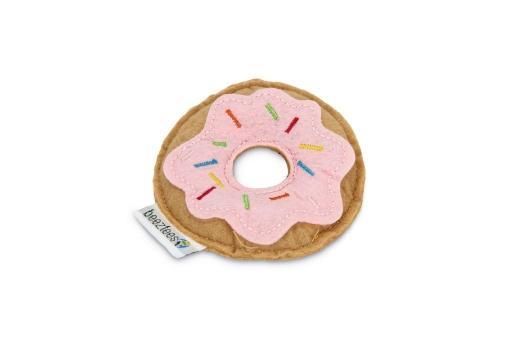 Beeztees donut - kattenspeelgoed - roze - 7,5x7,5x1,5 cm