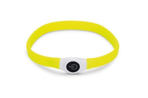 Beeztees safety gear glowy - halsband hond - geel - 65x2,5 cm
