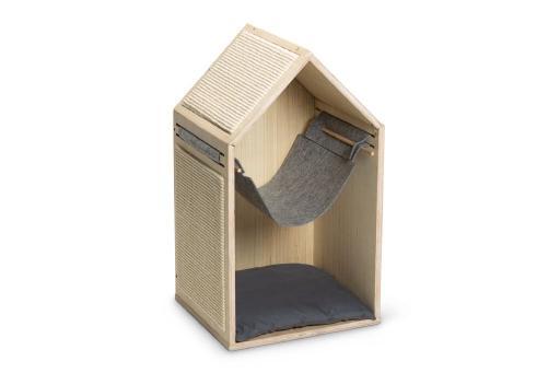 Beeztees migo krabpaal hout 40x35x69,5 cm