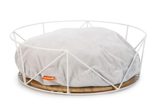 Beeztees kipu - kattenmand - metaal - wit - m - 50x50x17,5 cm