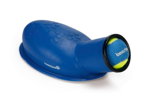 Beeztees fetch voet ballenschieter hondenspeelgoed blauw 27 cm