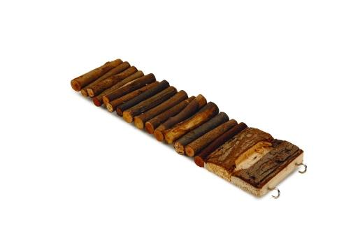 Beeztees alfy speelbrug knaagdierspeelgoed hout 27 cm