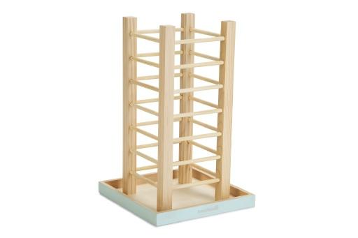 Beeztees hooicontainer denga knaagdier hout 22x22x35cm