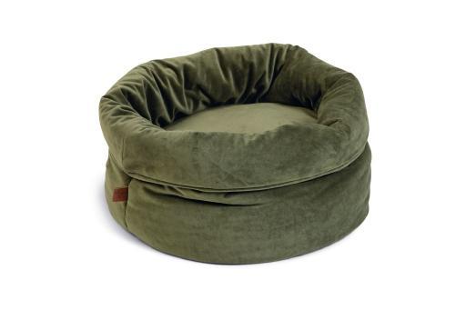 Designed by lotte fluco kattenmand fluweel groen 45x45x35 cm