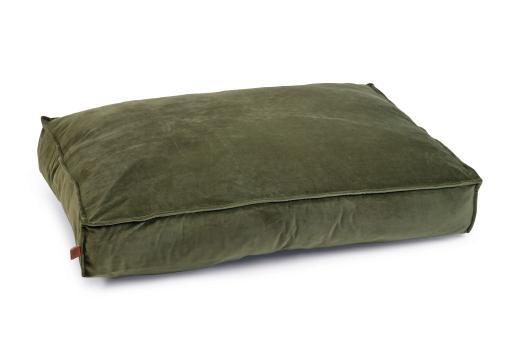 Designed by lotte nalino ligkussen hond fluweel groen 100x70x15 cm