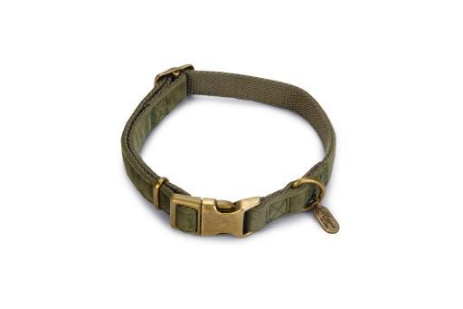 Designed by lotte velura hondenhalsband fluweel groen 35 50cmx20mm
