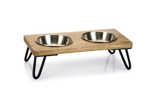 Designed by lotte dinerset linga kat hout metaal incl. 2 bakjes 31x16x10