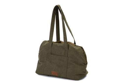 Designed by lotte bundu draagtas hond groen 40x20x28 cm