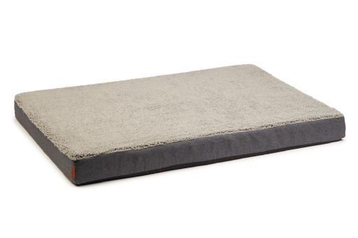 Beeztees memory foam zira hondenkussen grijs 120x80x10cm
