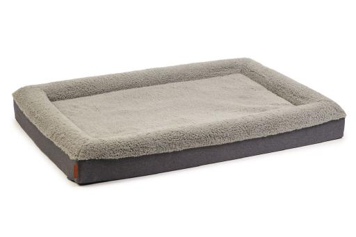 Beeztees memory foam ligbed yura hondenkussen grijs 120x80x15cm