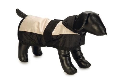 Beeztees polar - hondenjasje - zwart beige - nylon - 45 cm