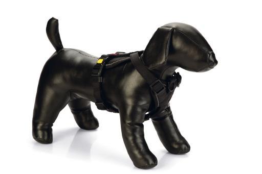 Beeztees parinca premium y tuig hondentuig nylon zwart 60 76 cm x 25 mm