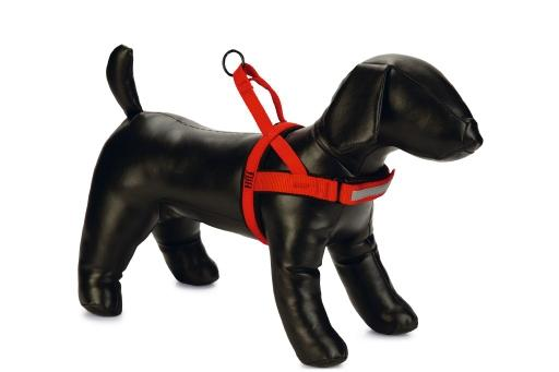 Beeztees parinca premium comfort - hondentuig - nylon - rood - 72-90 cm x 30 mm