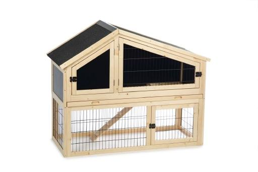 Beeztees durka - konijnenkooi - hout - buitengebruik - 122x52x98 cm