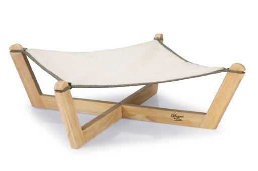 Designed by lotte gaia - kattenhangmat - hout - grijs - 51x51x18,5 cm cm