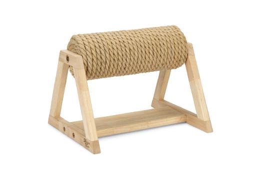 Designed by lotte yves krabpaal op voet hout 36x29,5x28 cm