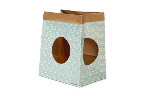 Beeztees kitten speelzak - kattentunnel - karton - 28x20x32 cm
