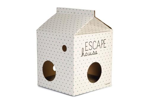 Beeztees kitten escape - kattenhuis - karton - 35x35x50cm