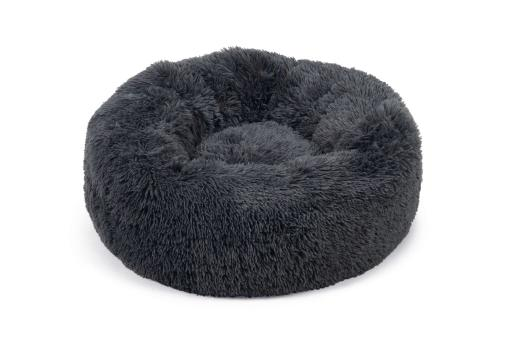 Beeztees yali hondenmand pluche grijs diam. 70 cm