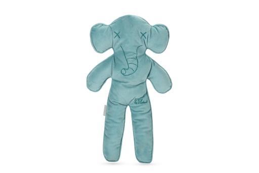 Beeztees olifant elvy - hondenspeelgoed - pluche - blauw - 40x24x5 cm