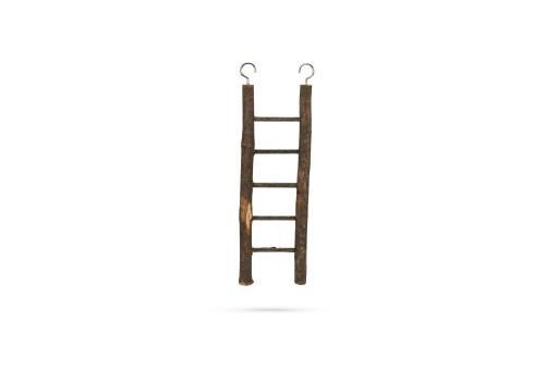 Beeztees zi ladder - vogelspeelgoed - hout - 5 treden - 21,5x7 cm