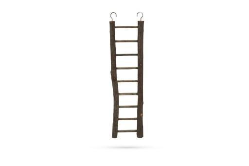Beeztees zi ladder - vogelspeelgoed - hout - 9 treden - 38x7 cm