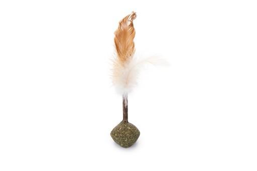 Beeztees catnip bal matatabi met veren kattenspeelgoed 16 cm