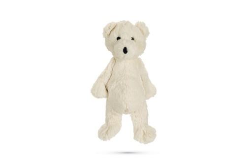 Beeztees ijsbeer dani hondenspeelgoed pluche wit 40x20x13 cm