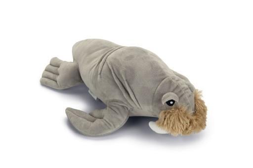 Beeztees walrus aiden hondenspeelgoed pluche grijs 34x24x19 cm