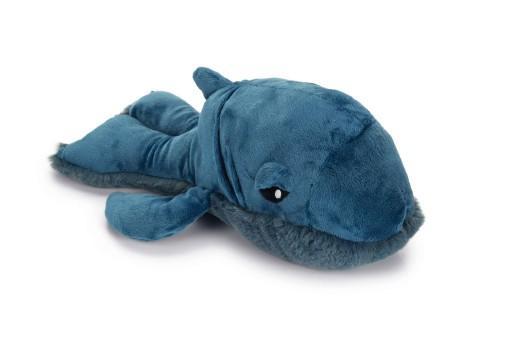 Beeztees walvis ivan hondenspeelgoed pluche blauw 34x21x13,5 cm