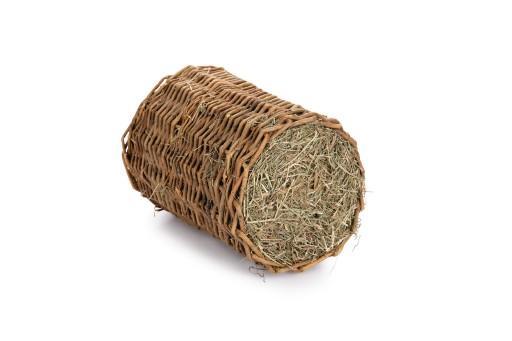 Beeztees wilgentunnel met hooi - knaagdierensnack - l - 30x25 cm