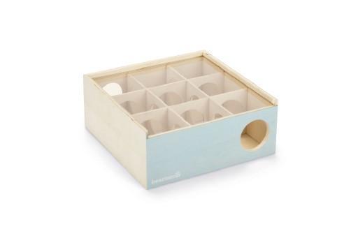 Beezees doolhof cleo - knaagdierspeelgoed - hout - mint - 18x18x7,5 cm