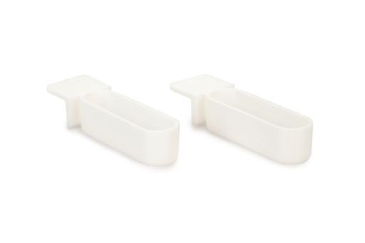 Snoepbakje - vogelbakje - plastic - wit - 2x1,3 cm