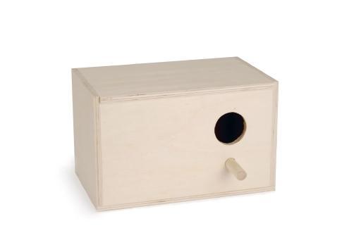 Broedkastje gat rechts - vogelnest - hout - 24,5x15,5x16 cm
