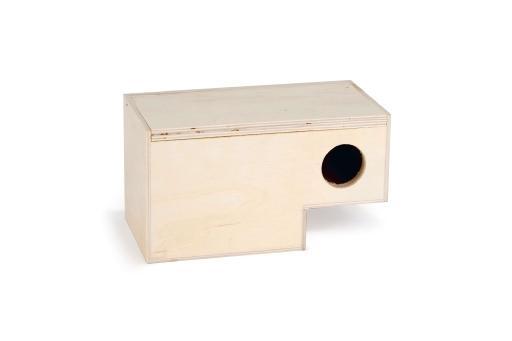 Broedkast instap - vogel - 19x10x10 cm