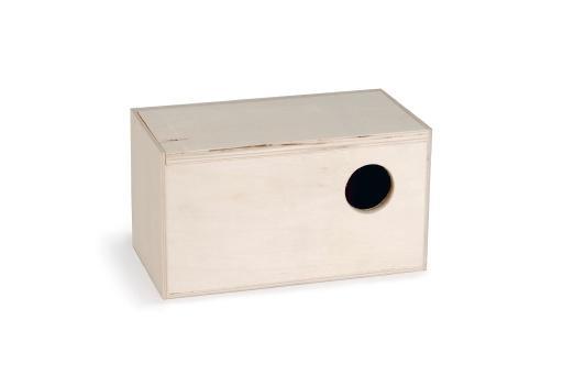 Broedkast recht - vogel - 19x10,5x10,5 cm