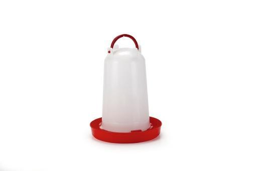 Drinktoren - vogel - plastic - wit - 3l