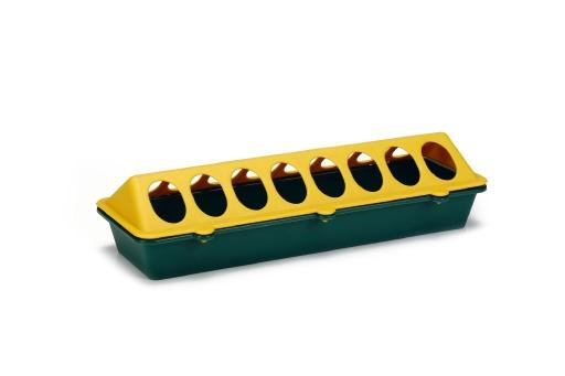 Kuikenvoerbak - vogel - plastic - geel/groen - 30 cm