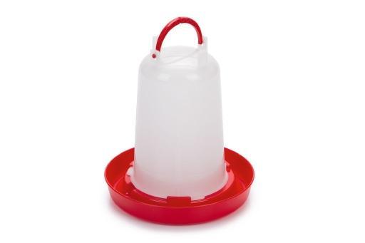Drinktoren - vogel - plastic - wit - 1,5l