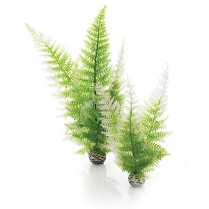 Decoratie Aquarium Easy Plant Winter Fern Groen Wit M Biorb