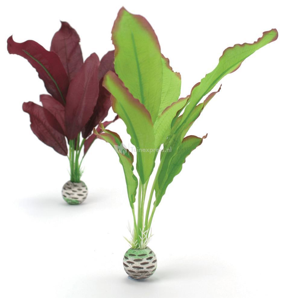 Biorb zijden aquarium planten medium groen paars for Decoratie aquarium