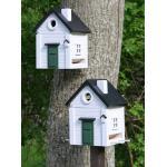 Vitt hus Plus vogelhuisje
